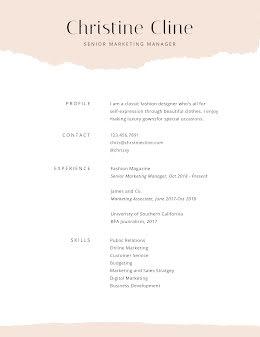Christine C. Cline - Resume item