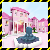Luxurious Pink House. Map for MCPE