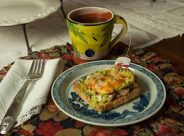 Avocado, Sausage & Eggs On Toast Recipe