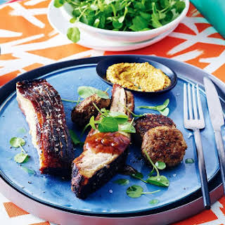 Smoked Pork Belly With Frikadeller (spiced Rissole).