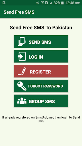 Send Free SMS to Pakistan by SMS Studio Apps (Google Play