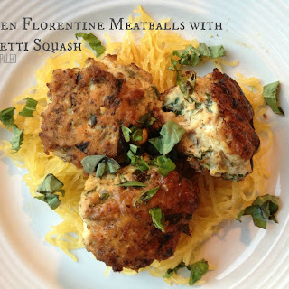 Chicken Florentine Meatballs with Spaghetti Squash