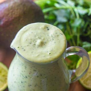 Healthy Creamy Avocado Cilantro Lime Dressing.