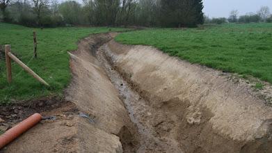 Photo: Pour assécher ce terrain fort humide.