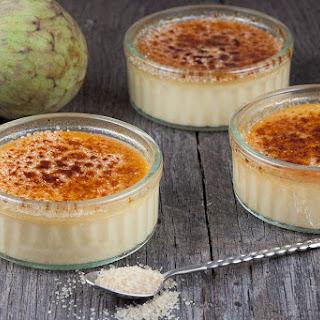 Cherimoya Crème Brûlée.