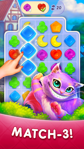 WonderMatchu2122uff0dMatch-3 Puzzle Alice's Adventure 2020 2.2 screenshots 1