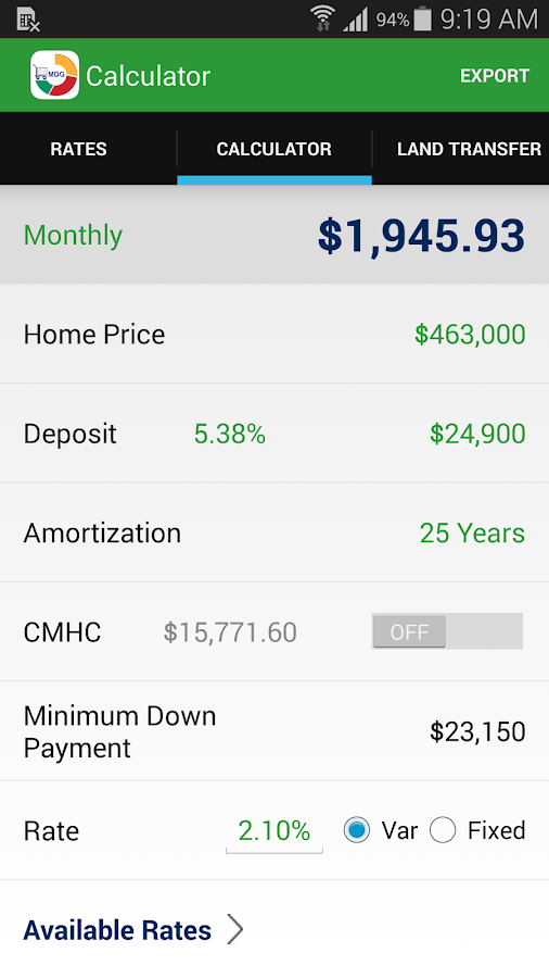 MortgageDeliveryGuy Calculator- screenshot