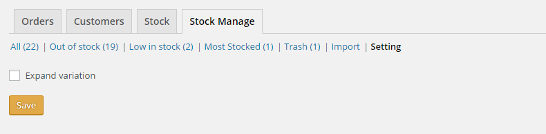 Woo Stock Manage & Report