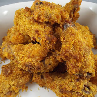 Spicy Breaded Chicken Wings.