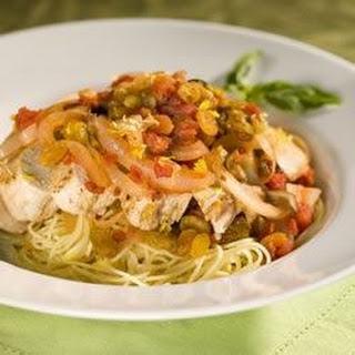 Sicilian Lemon Chicken with Raisin-Tomato Sauce.