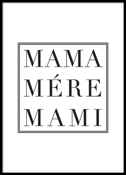 MAMA, POSTER