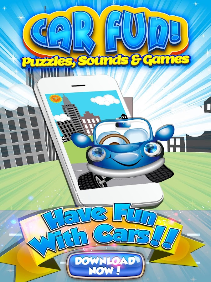 car puzzles for kids free game screenshot