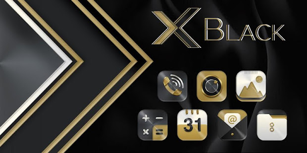 Black Gold X Launcher - náhled