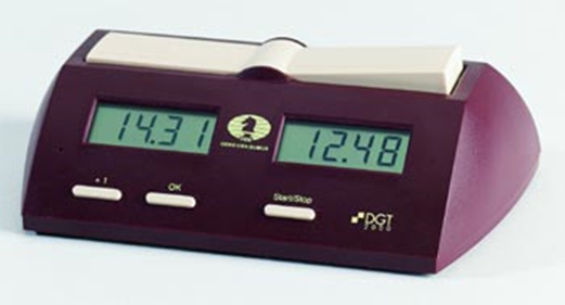 An example of the digital chess clock