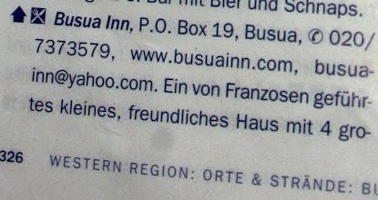 Photo: Busua inn : freundliches Haus