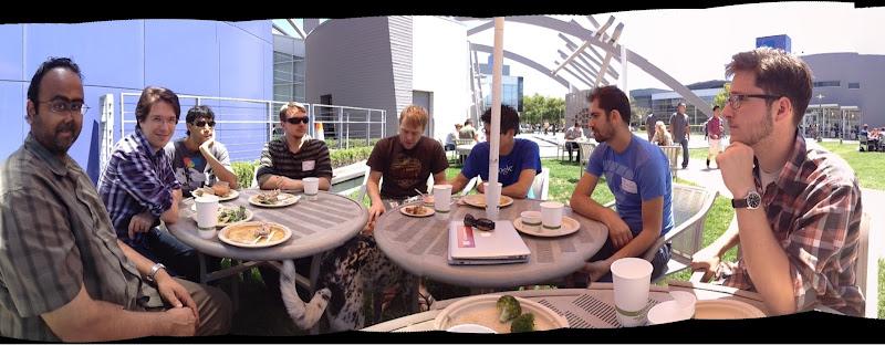 Photo: Pre-talk lunch at Google HQ