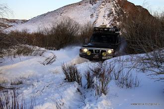 Photo: Простая протока часто заканчивается таким снежным заносом.