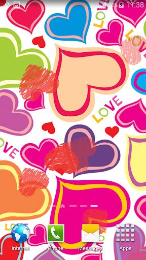 可爱的心动态壁纸|玩個人化App免費|玩APPs