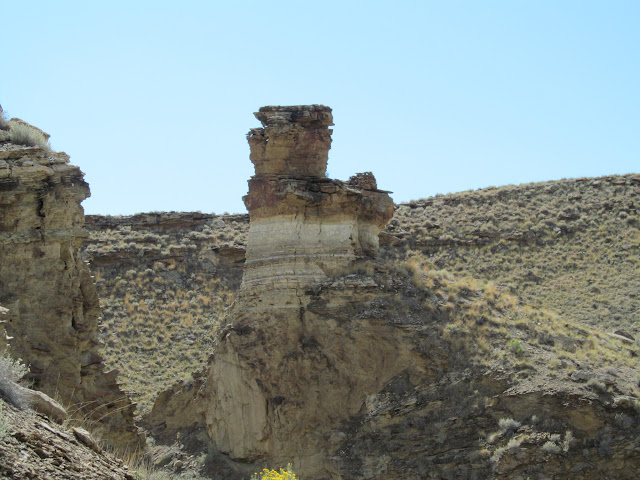 Drylaid stone ruin on the back of the butte