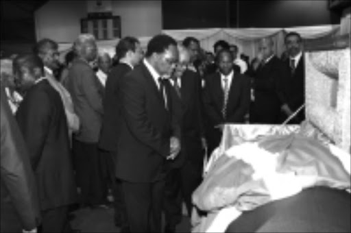 DIGNIFIED: Anti-apartheid activist Billy Nair, 79, was cremated in Durban yesterday  after he suffered a stroke  last week and died. He was given a state funeral. Pic. Thuli Dlamini. 30/10/2008. © Unknown