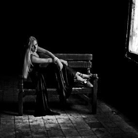 Alone by Basuki Mangkusudharma - People Portraits of Women ( girl, alone )
