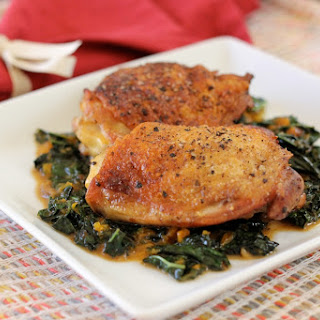 Crispy Chicken Thighs from The Lucky Penny Blog