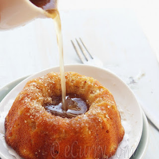 Liquor Soaked Apple Walnut Ginger Cake