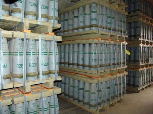 Sarin gas containers. File photo.