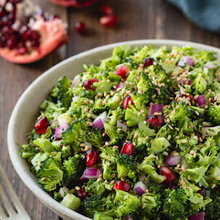 Broccoli Chopped Salad with Tahini Vinaigrette (From Pure Delicious, by Heather Christo).