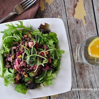 Miso Lentil Salad With Roasted Root Vegetables