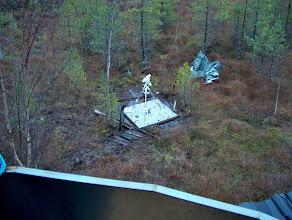Photo: Lisäjalusta näyttää pieneltä tähtitornin katseluaukosta nähtynä