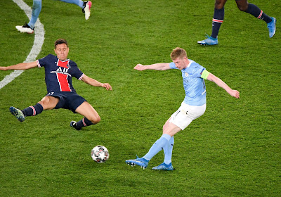 """Le but """"un peu chanceux"""" de Kevin De Bruyne contre le PSG"""