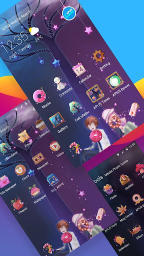 Cartoon love heart APUS launcher free theme 76.0 screenshots 2