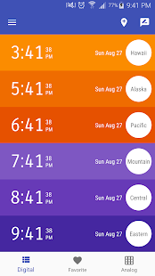USA Time Zone Clocks Android Apps On Google Play - Usa time zones