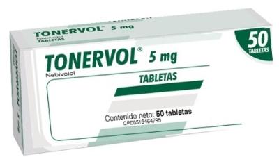 Nebivolol Tonervol 5Mg X 50 Tabletas Producto de Laboratorios Farma. Tratamiento de la hipertensión arterial esencial. Tratamiento de la insuficiencia cardiaca crónica estable.