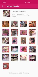 Nuevos stickers de memes de gatos WAStickerApps Screenshot