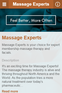 Massage Experts- screenshot thumbnail