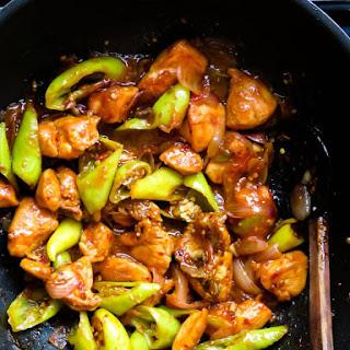 Sri Lankan devilled chilli chicken stir-fry..