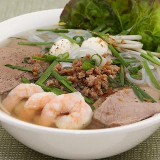 Pork and Shrimp Clear Noodle Soup (Hu Tieu).