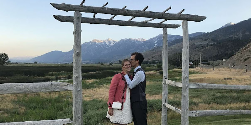 Christian and Krystal on their Wedding Day in Lake Tahoe Nevada