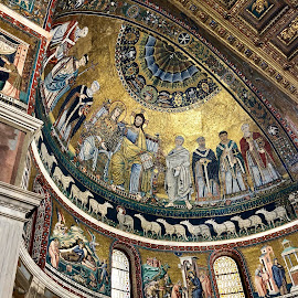 Santa Maria in Trastevere by Timothy Carney - Buildings & Architecture Places of Worship ( trastevere, santa maria, mosaics, byzantine )