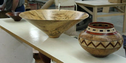 Photo: Not everything has to be an ogee.  There is also a place for straight lines. The exquisite segmented pot is by Ray Allen, from Phil's collection.  It has some classic ratios.