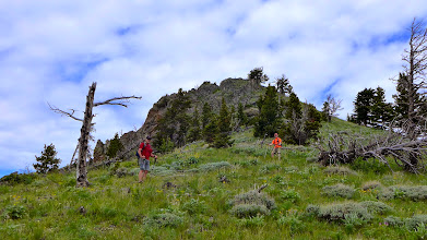Photo: Mark and Tim approaching the summit of Windy Mountain