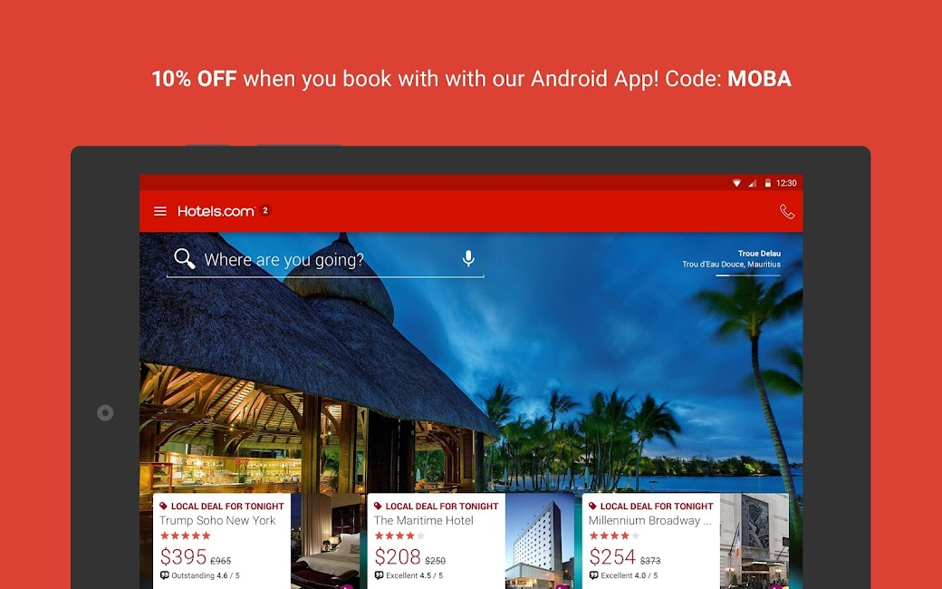 #6. Hotels.com – Hotel Reservation (Android)