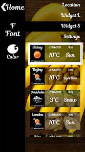 Banana Weather Widget - náhled