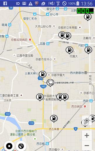 ガソリンスタンドマップ(簡易GPSロガー機能付)