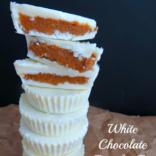 White Chocolate Pumpkin Pie Cups.