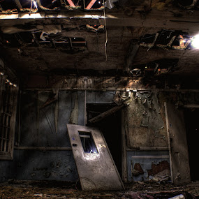 by Jade Newman - Buildings & Architecture Public & Historical ( hdr, mental asylum, hospital room, abandoned )