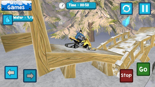 Snowmobile Race Speedy Forest