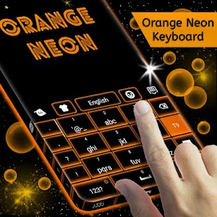 Orange Neon for Keyboard - náhled